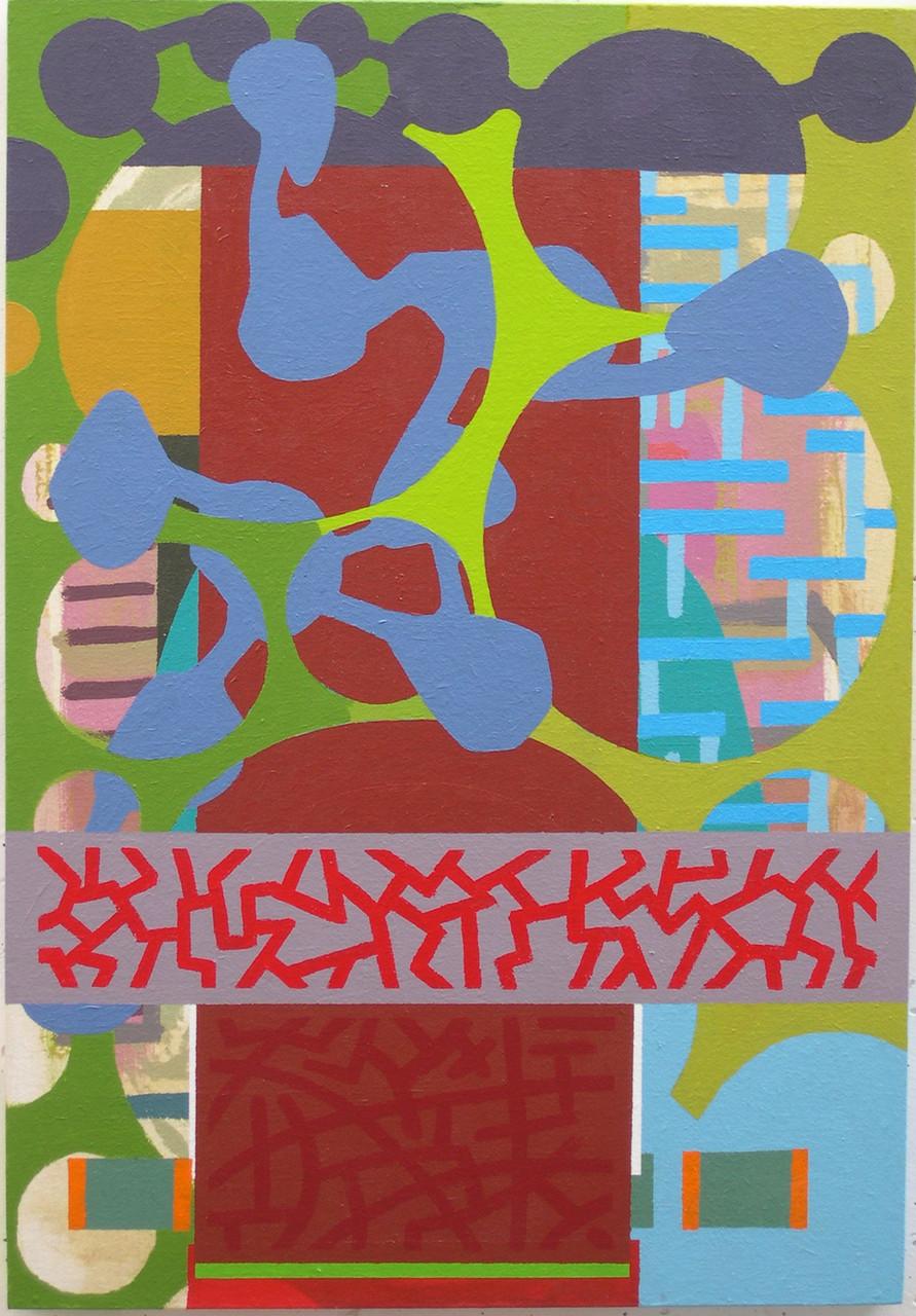 WASABI I. Acrílico sobre tela montada en madera. 73X50. 2003