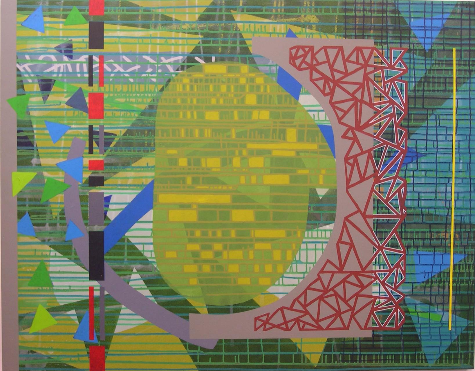 PASOS CONTADOS. Acrílico sobre madera. 114x146. 2004