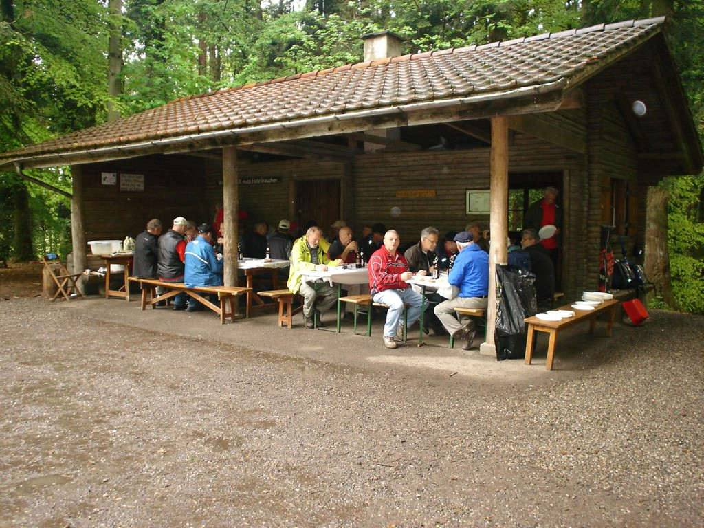 Trotz Regen war es gemütlich in der Heidelberger Hütte