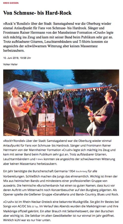 Gießener Allgemeine Zeitung, 10.06.2018