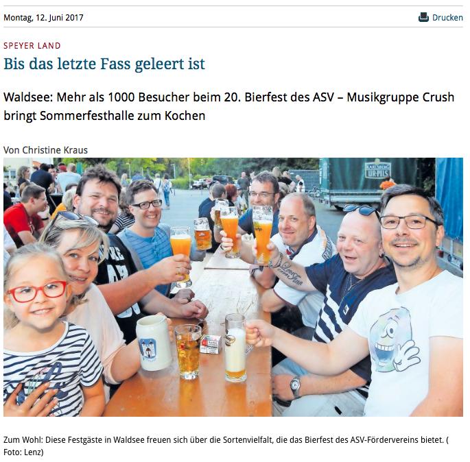 Rheinpfalz | 12.06.2017