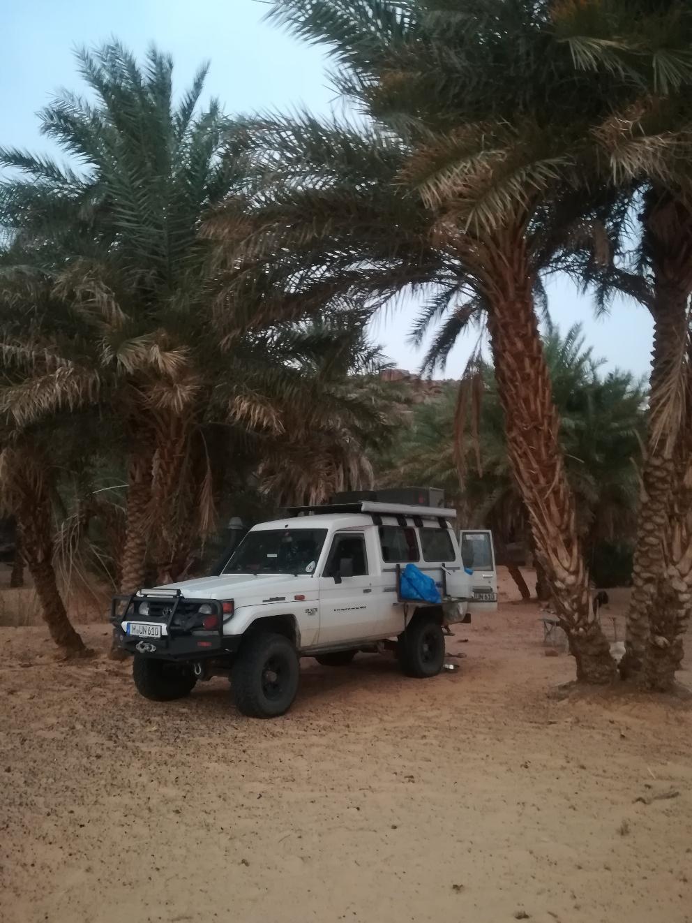 Unser Schlafplatz im Wadi