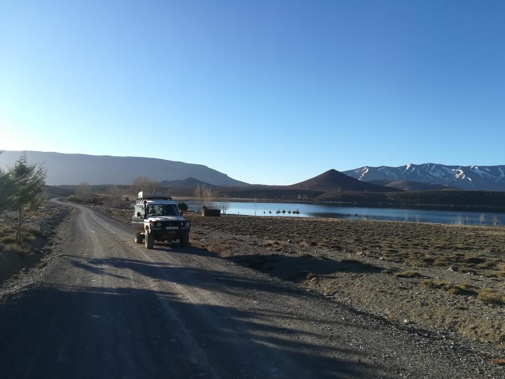 Der Lac Isli bei Imilchil im hohen Atlas