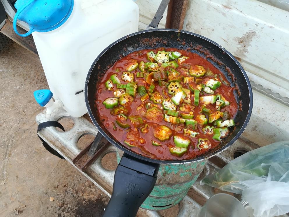 Der Beginn eines sehr scharfen Currys