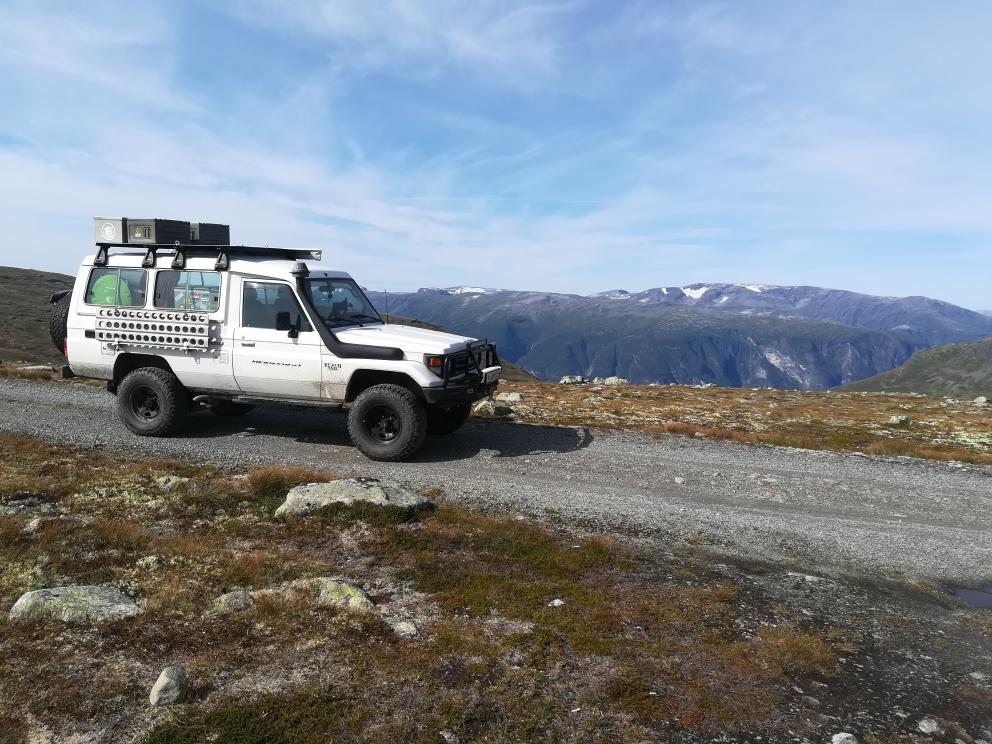 In den Bergen bei Aurland unterwegs