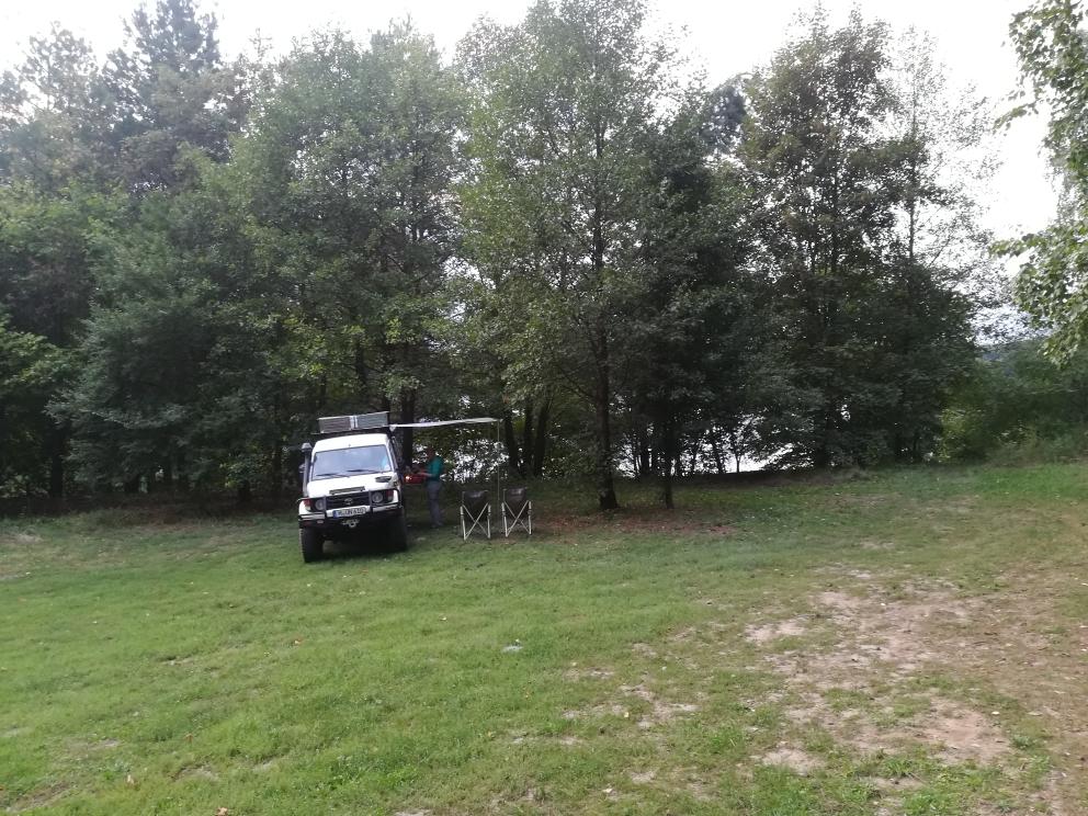 Unsere einziges Biwak in Polen östlich von Poznan