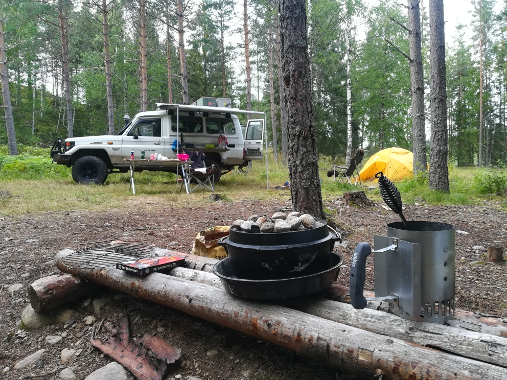 Unser Schlafplatz in Schweden
