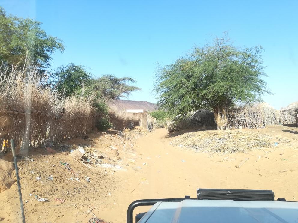 Das kleine Dorf Toungat