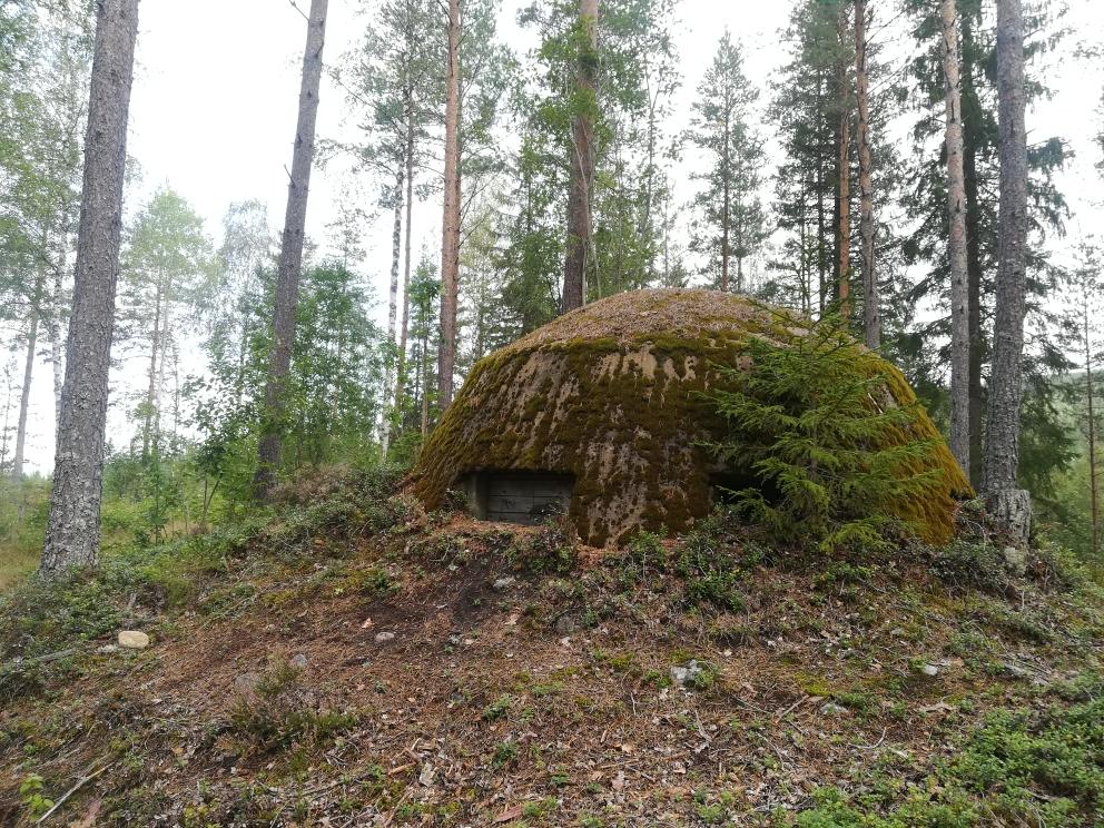 Ein Bunker aus dem Zweiten Weltkrieg, irgendwo im schwedischen Wald...