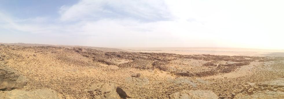 Die gut erhaltene Steinzeitsiedlung