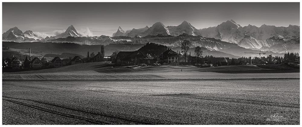 Sicht von Obere Zollgasse Richtung Berner Alpen