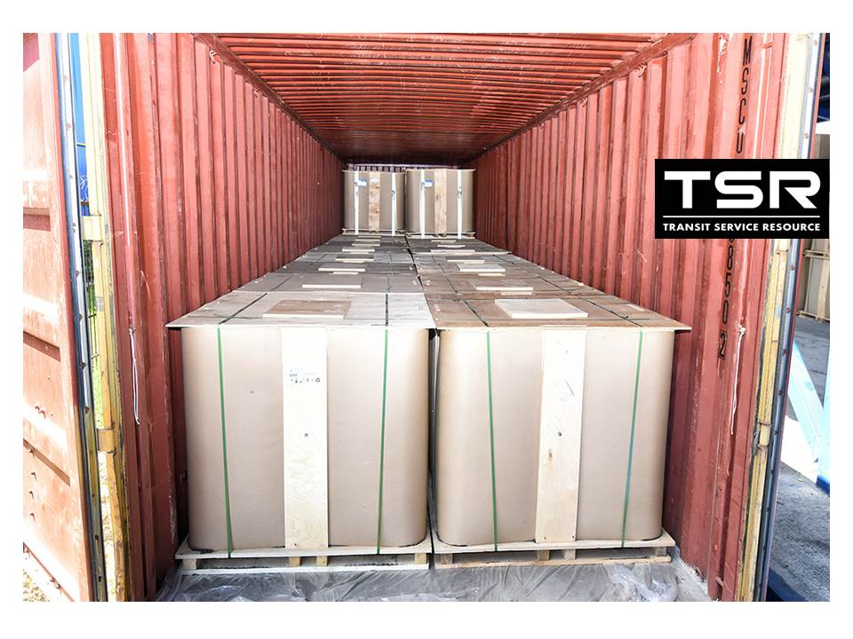 Cargo of special grade bitumen PMB 45/80-65  loaded on the 40 ft. container