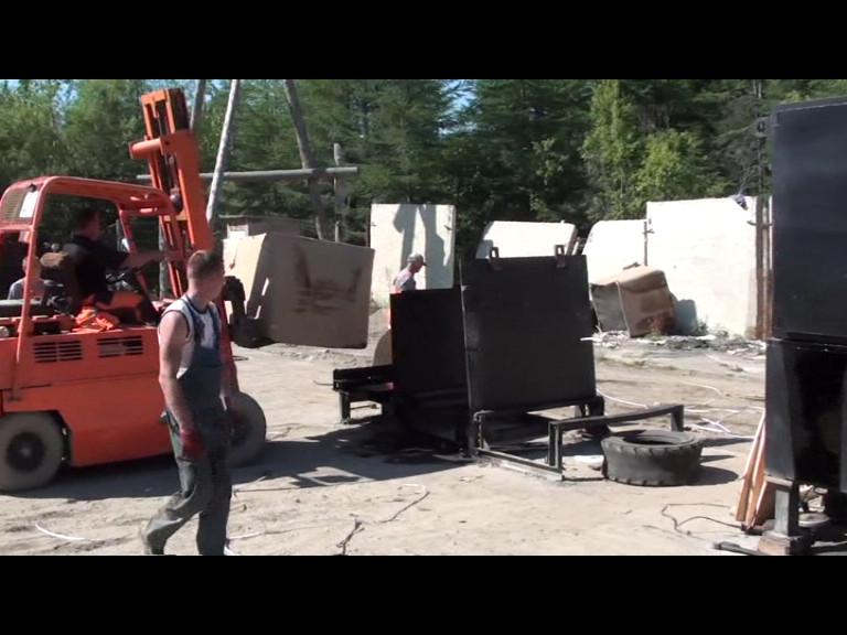 Транспортировка СК с битумом к печи плавления