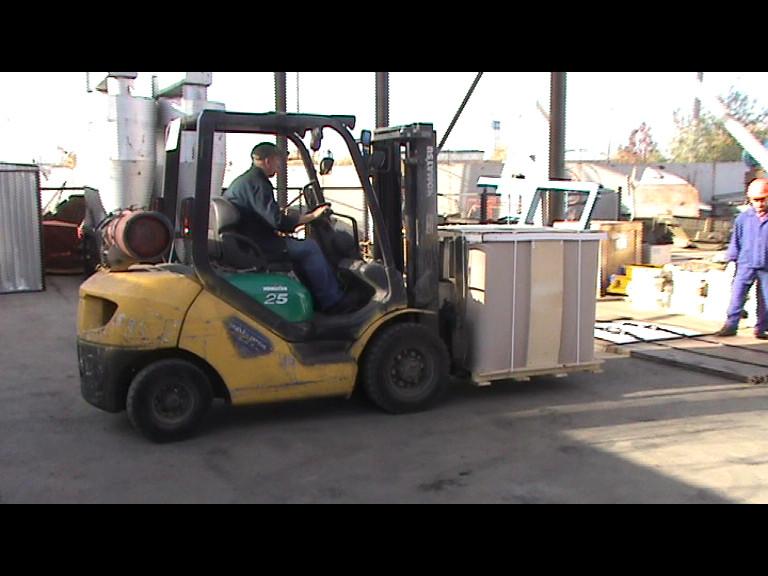 Транспортировка СК к месту плавления
