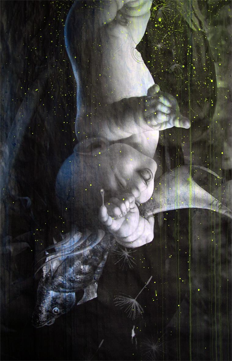Nascituro-à naitre,cm.75X150 détail