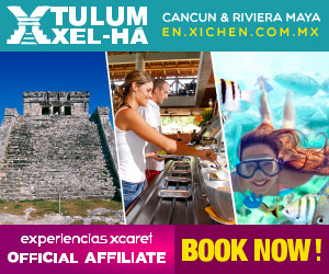Tulum & Xel-Há, the perfect combination of culture, sea and sun. Tulum, Riviera Maya.