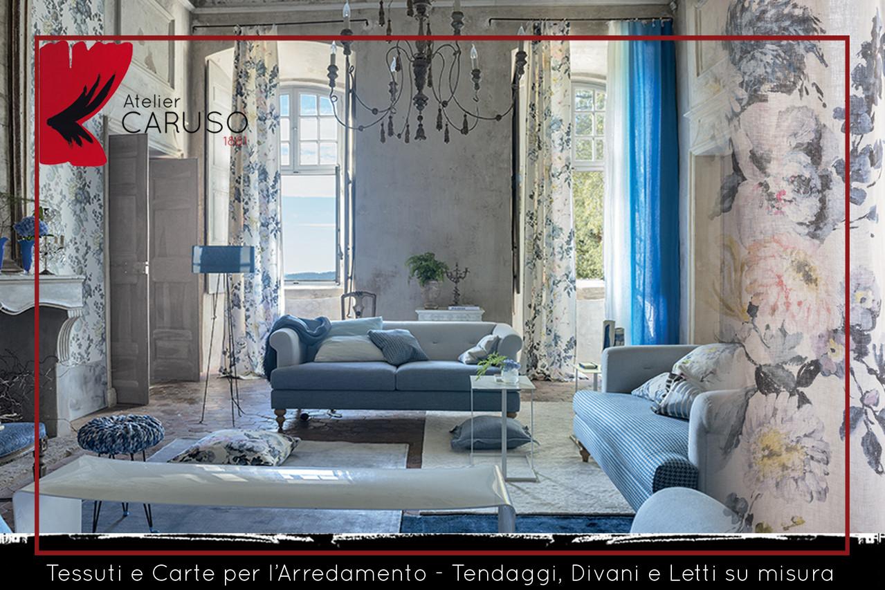 selezione di tessuti per divani e poltrone atelier