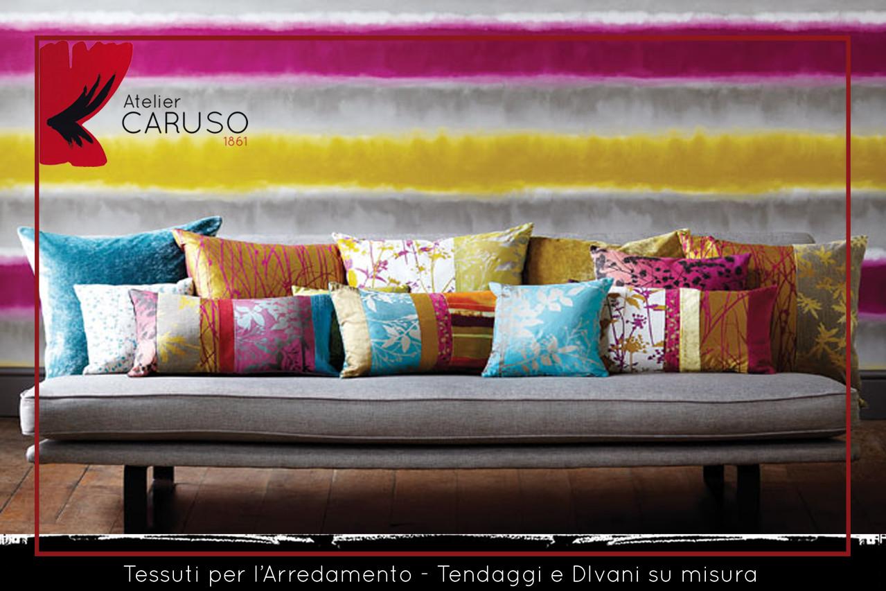 Tessuti Arredamento Per Divani selezione di tessuti per divani e poltrone - atelier caruso