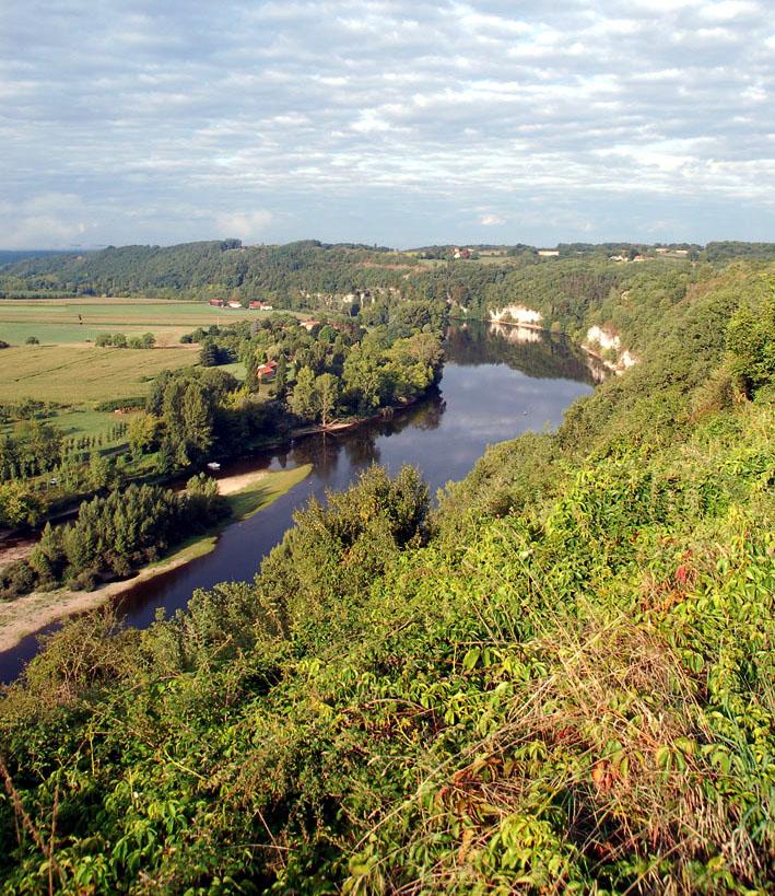 Panorama sur le Cingle de Limeuil – Dordogne (Cliché RNGSLB) – site classé *