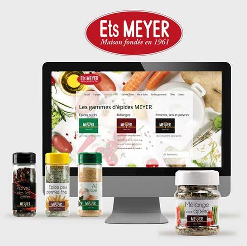 Refonte graphique site web et gamme Ets. Meyer par Imprex