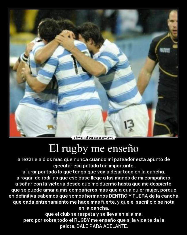 Frases Del Rugby Rugbyamistady Valores