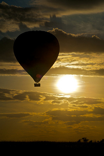 Ballon fahren in der Massai Mara