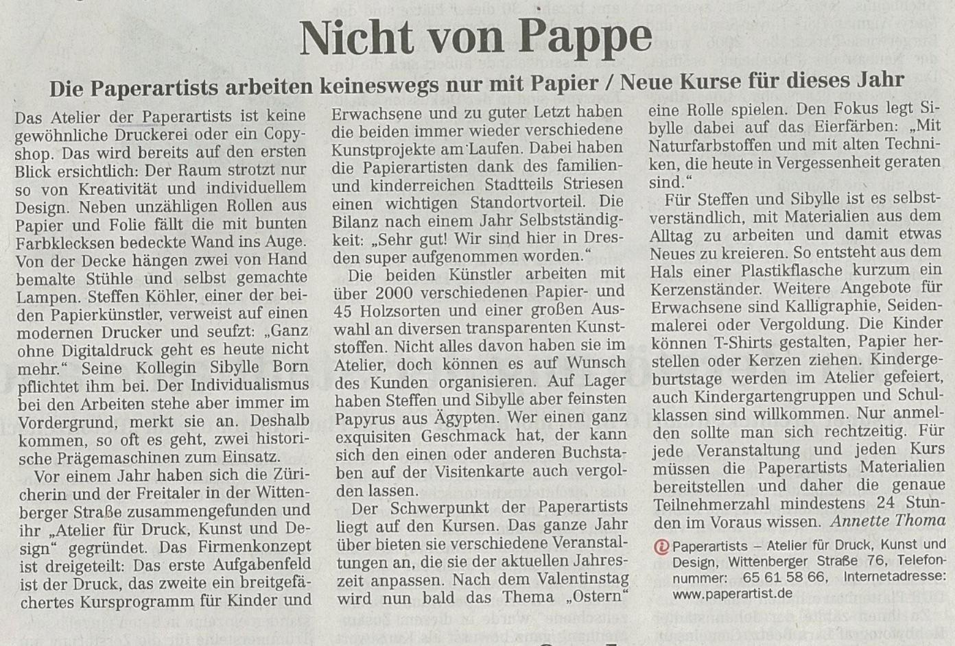 Dresdner Neuste Nachrichten, Februar 2012