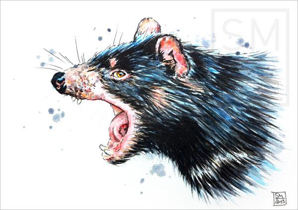 Tasmanischer Teufel (verkauft) | tasmanian devil (sold)