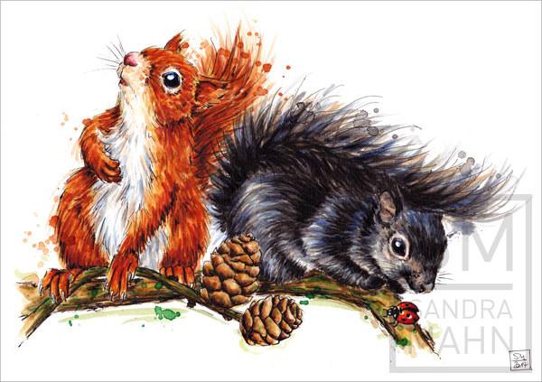 Eichhörnchen (verkauft) | squirrels (sold)