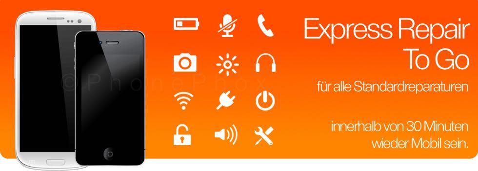 Sollten Sie einen Schaden an Ihrem Smartphone oder Tablet haben, können wir für alle Standard Reparaturen den Reparatur to Go Service anbieten. Sie machen mit uns einen Termin, haben dadurch bei hohen Publikumsverkehr keine Wartezeit und können nach 30 Mi