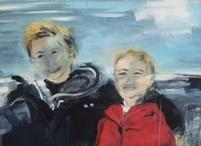 2015, Geschwister an der Nordsee, B80xH60cm, Acryl auf LW
