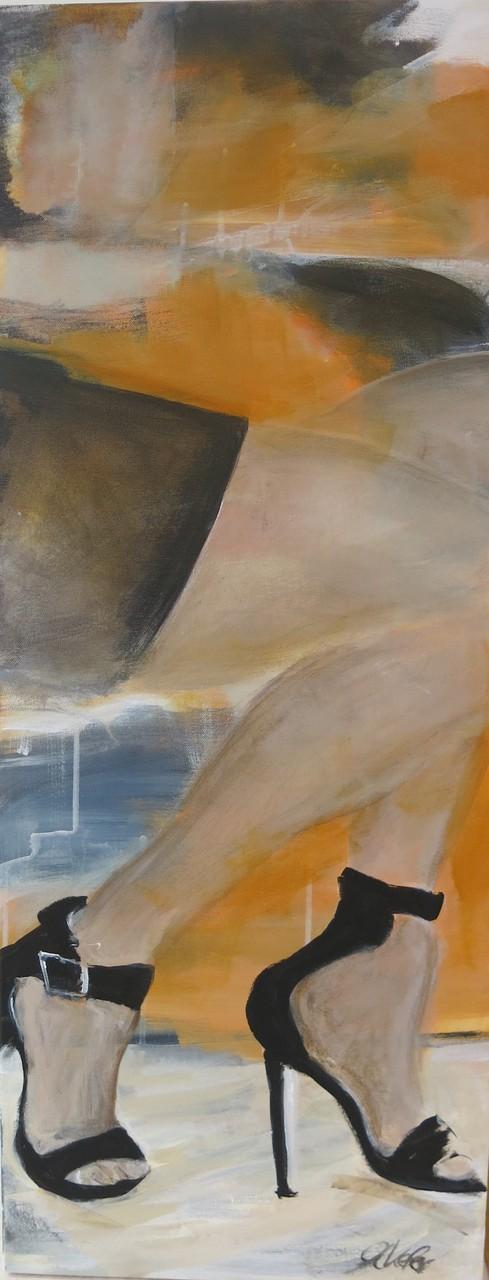 2015, High Heels, H100 x B40 cm, Acryl auf LW