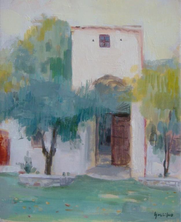 秋の庭(岡山日展六華展出品)    3号   2010