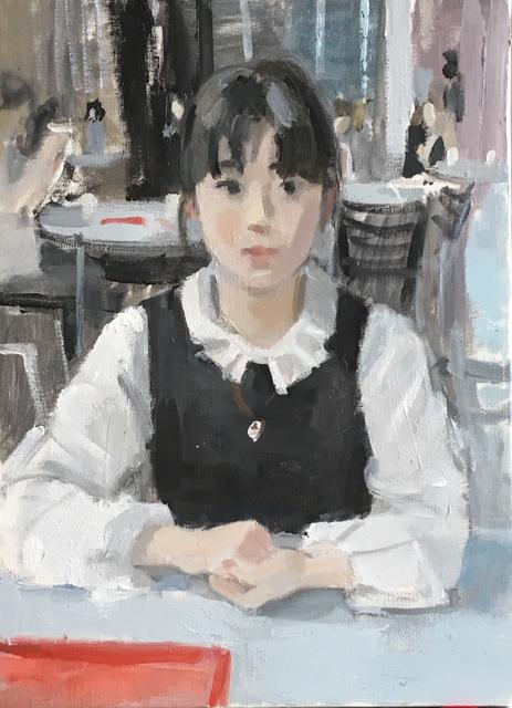 カフェ 4号 油彩(サイン前)