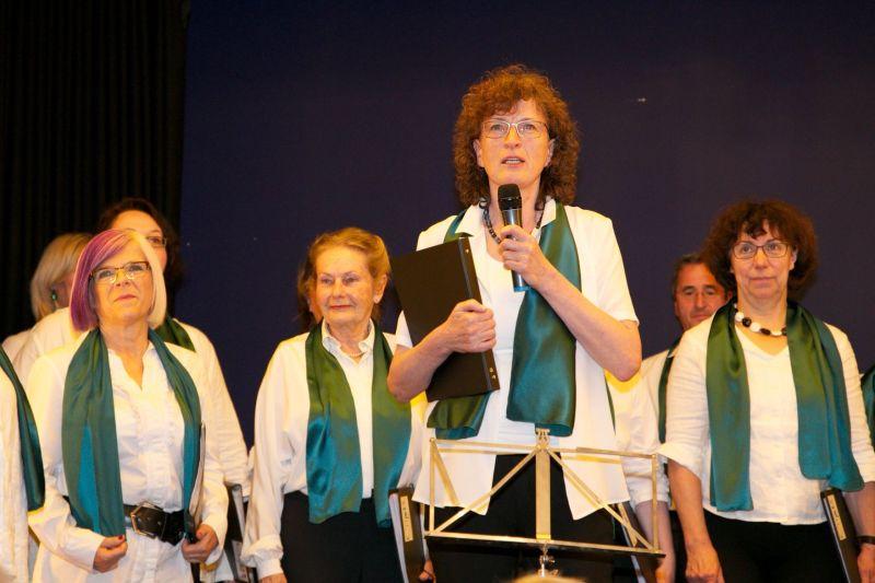 Obfrau Johanna Brückl begrüßt