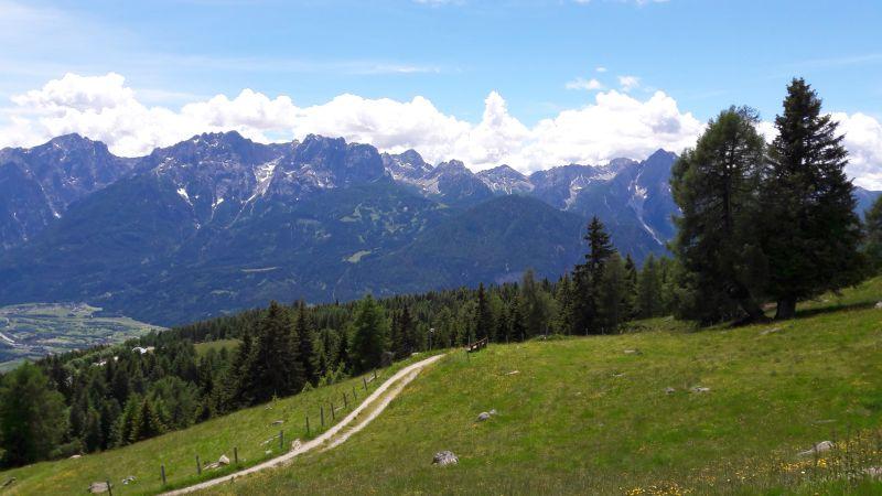 Zettersfeld, Blick Lienzer Dolomiten
