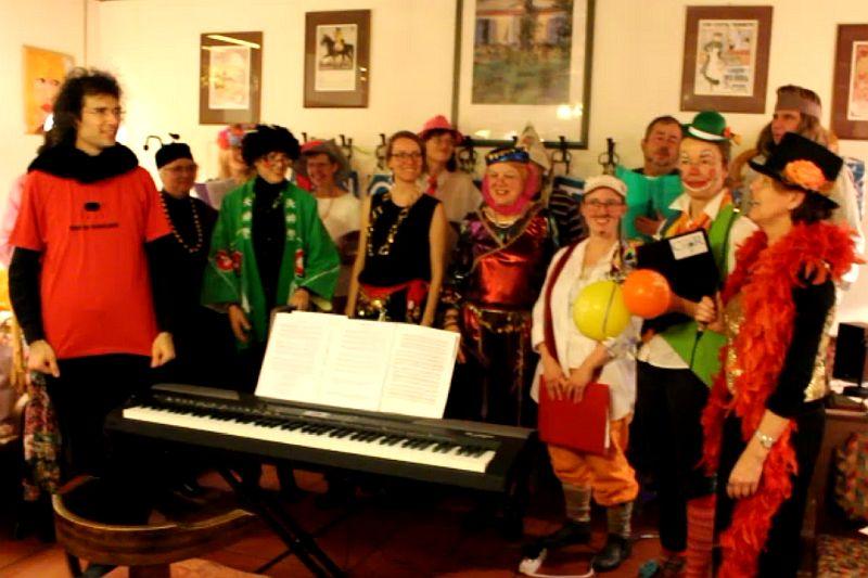 """zum Abschluß singen wir gemeinsam mit unseren Gästen """"tief drin im Böhmerwald"""""""