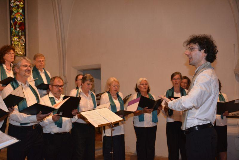 unser Chorleiter Daniel