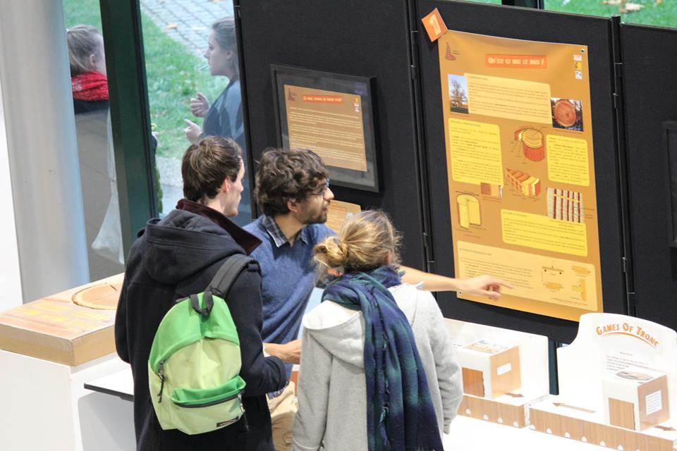 """Exposition """"Le Bois : écorce de notre passé"""", Université Rennes 2, octobre 2015"""