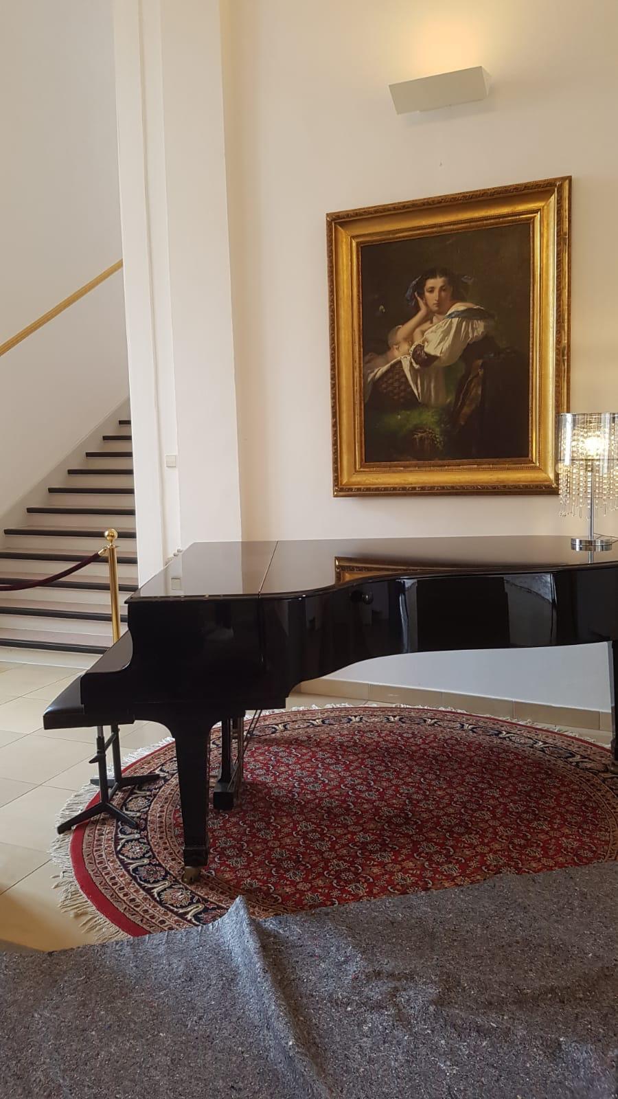 Vor der Abendfeier noch eine Trauung auf dem wunderschönen Flügel im Schloss Freudental gespielt