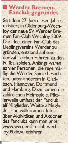 Sonntags-Zeitung vom 26.07.09 (anklicken)