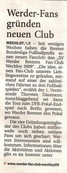 Nordwest-Zeitung vom 23.07.09