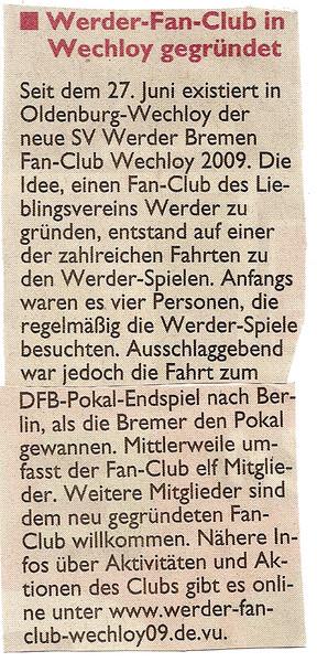 Mittwochs-Zeitung vom 15.07.09 (anklicken)