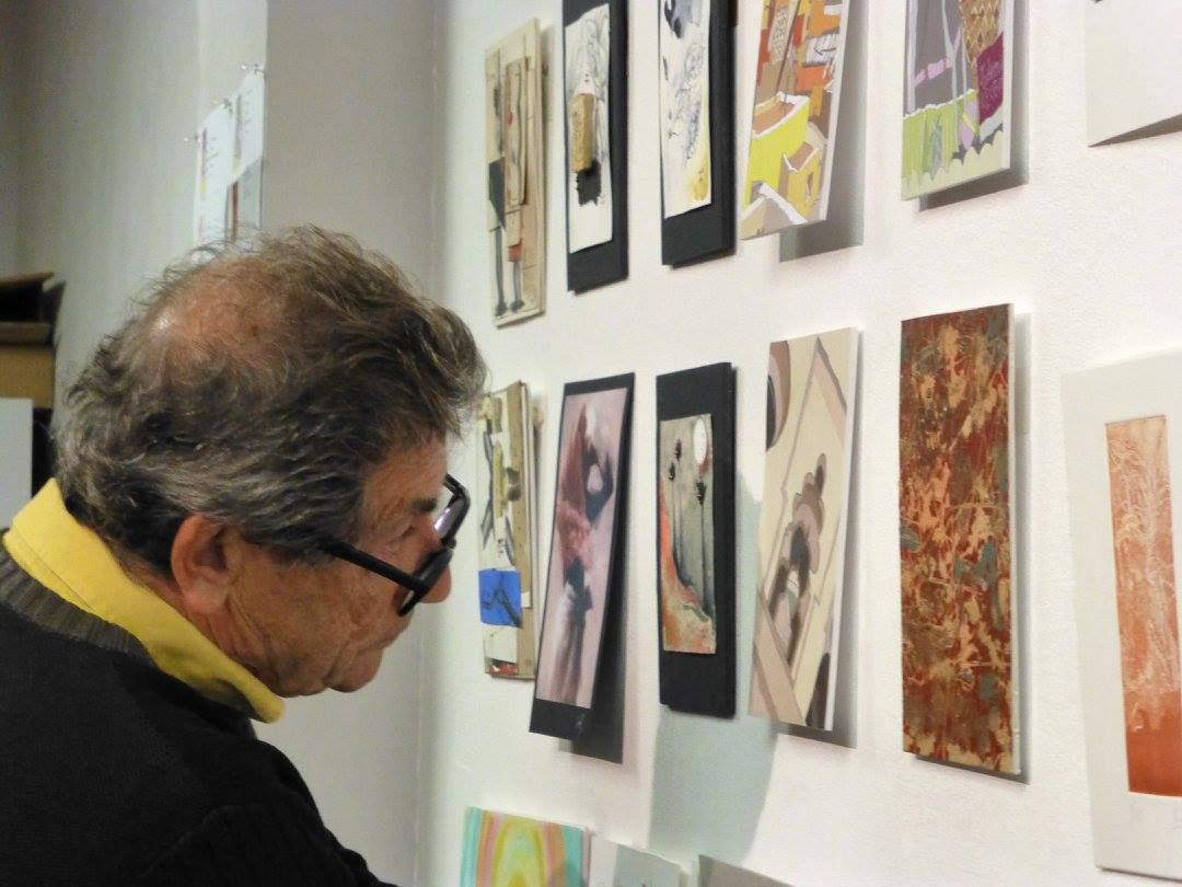 Los amigos dándonos apoyo. Frederic Girós, xilografista, artista y amigo.