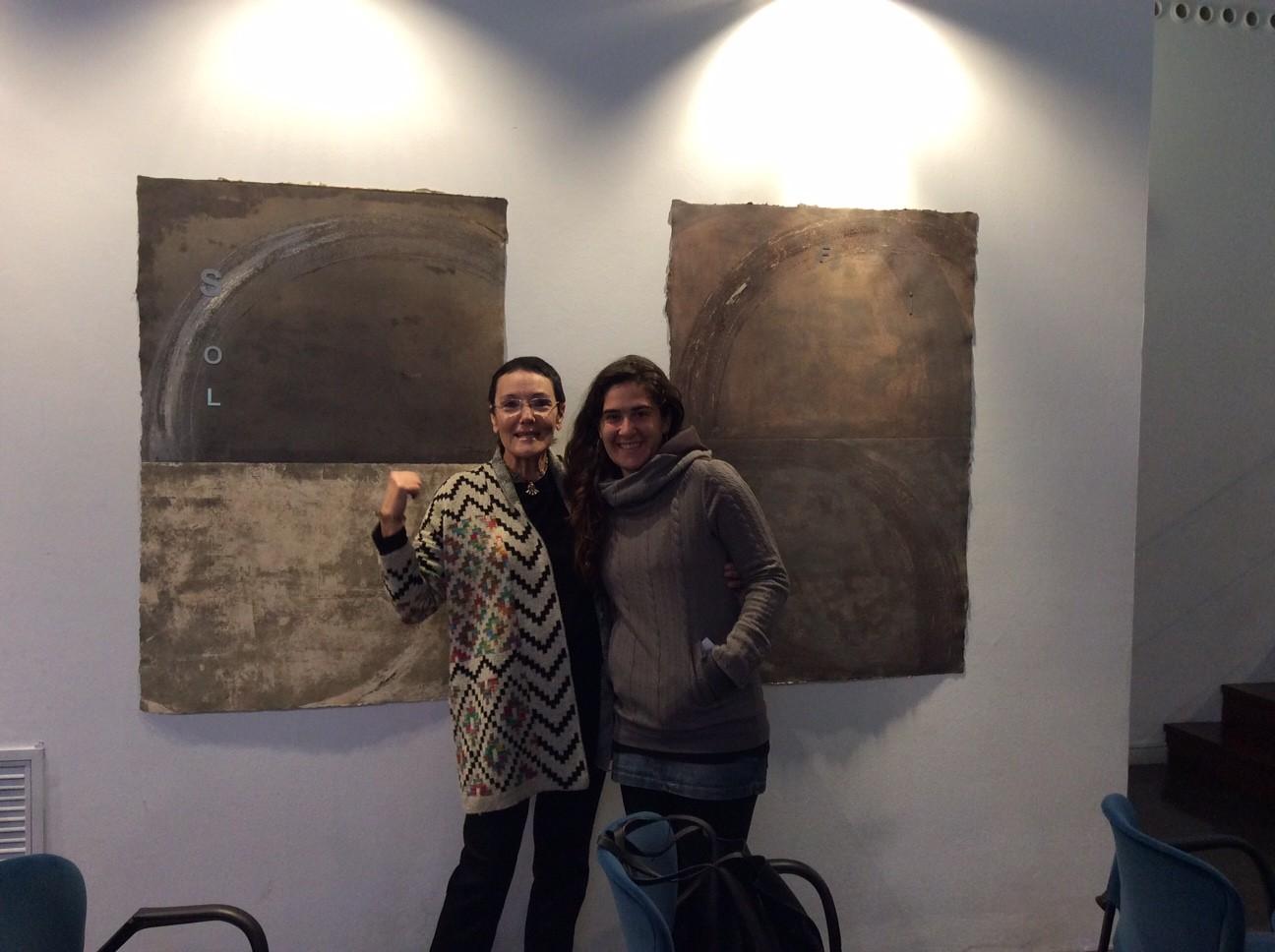 Amb Aïda Rull, escultora i amiga.