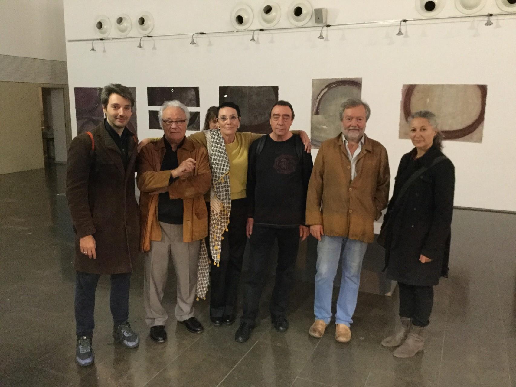 Om Barbarà, Josep Maria Aviles, jo, Manel Ruano, Virgili Barbarà i Pepa Busquè. Feliç de que hi fossin.