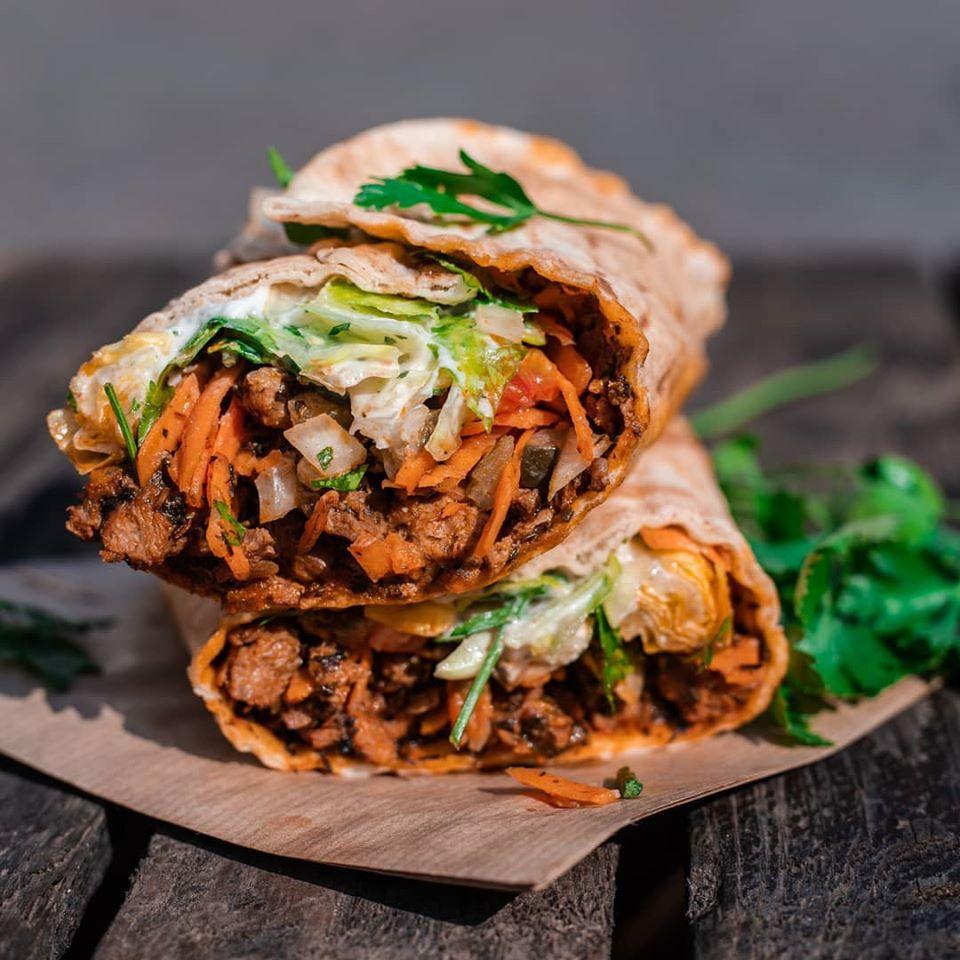 Vegan Gyros-Wrap Bonn vegan Marktplatz Catering