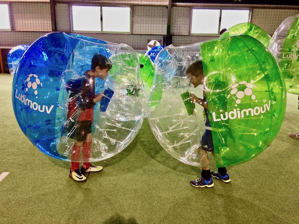 Bubble foot enfant face à face soccer 5 Annecy
