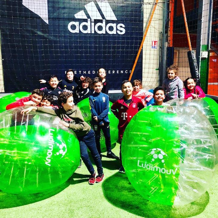 Bubble foot enfant au centre Mont Foot 5 Annecy