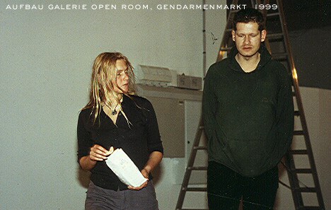 "Aufbau Galerie ""open room"", Berlin-Gendarmenmarkt, 1999"